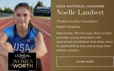 Noelle Lambert named the 2020 L'Oréal Paris Women of Worth National Honoree